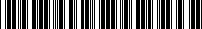 Barcode for NPN071018