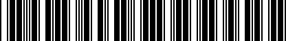 Barcode for NPN071114